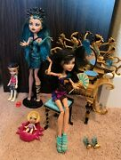 Monster High Nefera De Nile And Cleo De Nile Doll Family Lux And Sandy Vanity Set