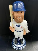 5/10 Justin Turner Dodgers Signed 3ft Bobblehead 2020 Ws Champs Psa 9a70668