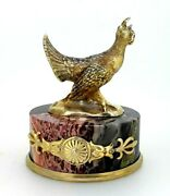 Antique Russian Silver Gilt And Jasper Paperweight.