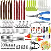 Freshwater Fishing Lures Baits Tackle Kit175pcs Bass Fishing Accessories With...