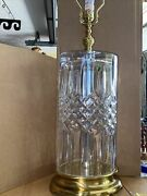 Waterford Fine Hand Cut Crystal Table Lamp - Made In Slovenia Mint
