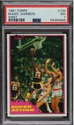 1981 Topps Super Action Magic Johnson West 109 Psa 7 2nd Year Solo Rookie