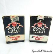 Monte Carlo Vintage Arrco Pinochle Playing Cards 2 Complete Decks Tax Stamp