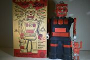 Vintage Marx Robot And Son Toy W/box 14 Tall Rare