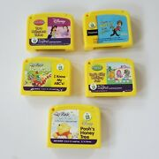 Lot Of 5 Leapfrog My First Leappad Replacement Cartridges Disney Abcs
