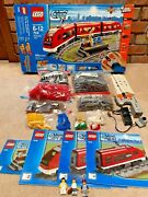 Lego City Passenger Train 7938 100 Complete With Instructions And Box Washed