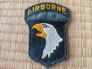 Original Gold Eye Us Army 101st Airborne Division Patch German Made Rare