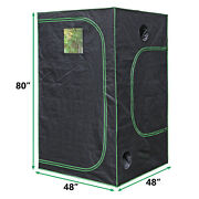 Hydroponic Grow Tent With Observation Window And Floor Plant Growing 48x48x80