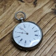 Small Swiss Cylinder Ladies Pocket Watch For Restoration Ornate Case F116