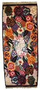 Handmade Antique French Art Deco Rug 1.6and039 X 3.8and039 50cm X 116cm 1920s - 1c738