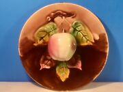 Wall Plate Apple Antique Majolica Palissy Pottery 3-d Plate C.1880-1910