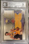 2006-07 Exquisite Collection Scripted Swatches Jerry West 01/25 Auto Bgs 9 10
