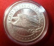 1 Oz .999 Silver Round God Bless America With Airtight Capsule