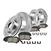 Front+rear Drill Slot Brake Rotors And Ceramic Pads For Mini 2011-2016 Cooper