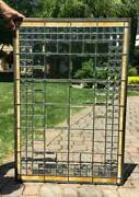 Antique Architectural Window Beveled Prisms And Beveled Leaded Glass C