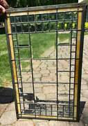 Antique Architectural Window Beveled Prisms And Beveled Leaded Glass D