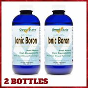 2 Bottles Boron For Pain Inflammation Calcium Absorption 8fl Oz Each Good State