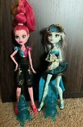 Monster High 13 Wishes Doll Lot Of 2 Gigi Grant And Frankie Stein Accessories