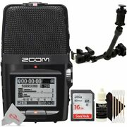 Zoom H2n Handy Digital Audio Stereo Recorder With Handy Recorder Mount Kit