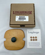 Longaberger Lots Of Luck Lid With Green Knob New In Box With Felt Pads 58602