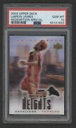 2003-04 Upper Deck Lebron James Nno City Heights Rookie Cavaliers Psa 10 Qty