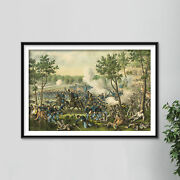 The Battle Of Champion Hills By Unknown Artist 1887 Poster Painting Art Print