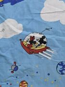 Used Very Rare Disney Fabric Space Pattern Vintage Multi-color Very Cute