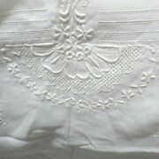 Vintage Appenzell Lace 100 Linen Tablecloth And 12 Napkins New Old Stock 71 X 86