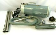 Vintage Teal Mcm Electrolux Metal Canister Vacuum Cleaner And Attachments Works