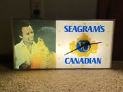 Seagram's Vo Canadian Lighted Sign Clock 1970s Vintage Liquor Store Advertising