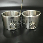 Metal Stainless Steel Handcuffs Collar Ankle Shackles Pillory Screw Restraint