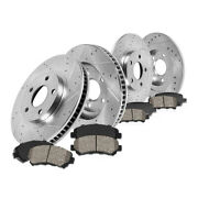 Front+rear Drill Slot Brake Rotors And Ceramic Pads For Nissan Altima Maxima Se-r