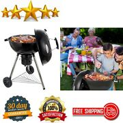 Charcoal Grill Portable Bbq Grill Kettle Outdoor Grills And Smokers For Backyard