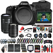 Canon Eos 80d Camera W/ 18-135mm Lens And Ef-s 55-250mm Lens - Advanced Bundle