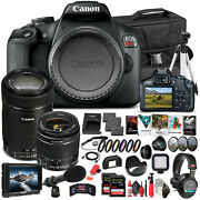 Canon Eos Rebel T7 Camera W/ 18-55mm And Ef-s 55-250mm Lens - Pro Bundle