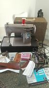 Vintage Sears Kenmore 3/4 Size 1.2 Amp Metal Leather Sewing Machine T037p2