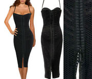 80 Offgorgeous Dolce And Gabbana Black Corset Dress Size 44 2500.00 Off