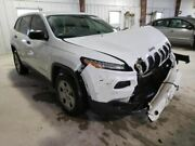 2014-2018 Jeep Cherokee Right Front Passenger Door White Auto Down Glass 1245370