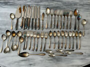 Community Plate Silverware Silverplate And Stainless Flatware Set Of 49