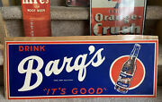 Barqand039s Root Beer Sign 1940s Vintage Cardboard Display Drink Barqs Itand039s Good Rare