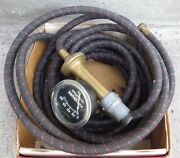 Vtg. 1940and039s Schrader 8888g Spark Plug Tire Pump Inflating Device Guage With Box