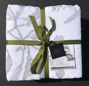 Michael Aram Duvet Cover Branch King Linen Blend Embroidery Discontinued Nwot