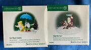 Department 56 North Pole Series Car Wash Cadets Andhappy New Year Figurines Pc Lot