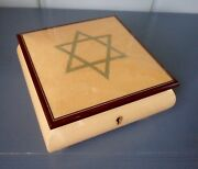 Reuge Star Of David Musical Jewelry Box Plays Memory Swiss Erable Taly Jewish