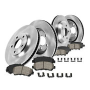 Front And Rear Brake Rotors Ceramic Pads For Ford 2010-2014 Mustang Base