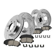 Front+rear Drill Slot Brake Rotors And Ceramic Pads For 2009 Ford F-150 Lug Base