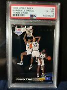 1992 Upper Deck 1b Shaquille O'neal Trade Card Redemtion Psa Iconic Rookie Shaq