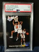 1992 Upper Deck 1b Shaquille O'neal Trade Card Redemtion Psa7 Iconic Rookie Shaq