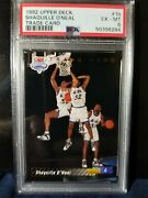92 Upper Deck 1b Shaquille O'neal Trade Card Redemtion Psa Iconic Rookie Shaq