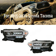 For 15-20 Toyota Tacoma Led Drl Headlights Front Left+right Brake Tail Lights